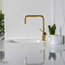Oro dorado laton llave cocina